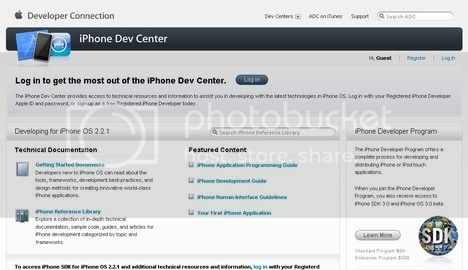 iPhone Dev Center By Apple