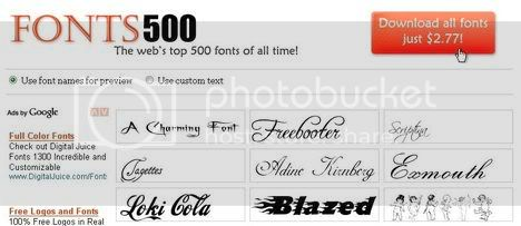 Fonts 500 - The webs top 500 free fonts