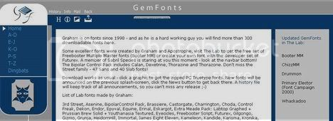 GemFonts - Graham Meade