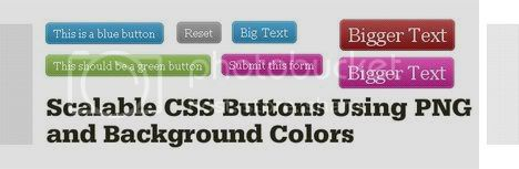 Scalable CSS Buttons Using Png and Background Colors : Monc.se