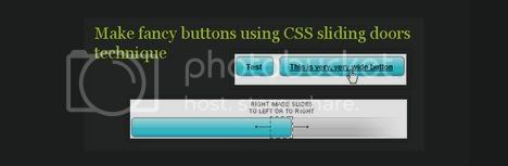 Make fancy buttons using CSS sliding doors technique 