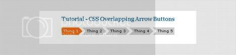 CSS Overlapping Arrow Buttons : Firefly-multimedia