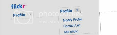 Flickr like horizontal menu