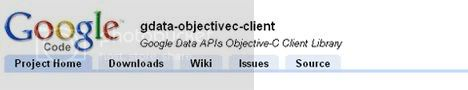 Objective-C Google data APIs library