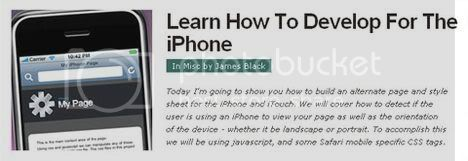 Learn How To Develop For The iPhone - From NETTUTS