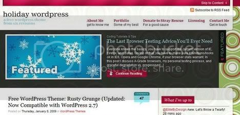 Holiday WordPress