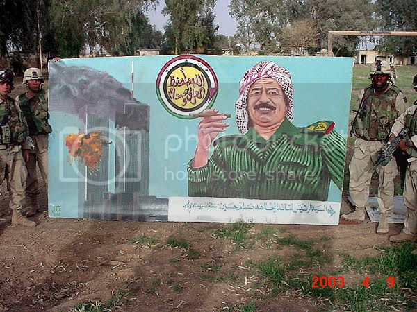 saddam 9-11, mural found in iraq